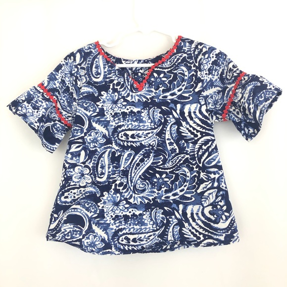 Nautica Other - Girl's Nautica Blue Patterned Top